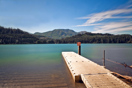 Boat Launch at a Mountain Lake LANG_EVOIMAGES