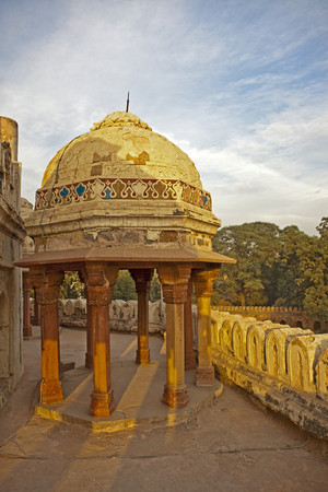 Dome and Columns of Building at Hanumans Tomb LANG_EVOIMAGES