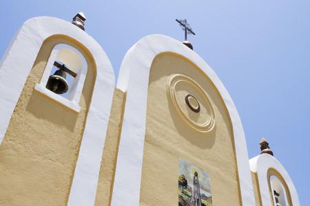 Exterior Facade of a Mexican Church LANG_EVOIMAGES