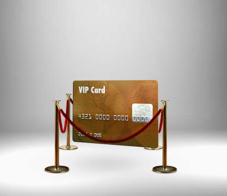 Red rope barrier around VIP credit card