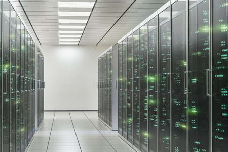 Cabinets Of Servers In Office Server Room