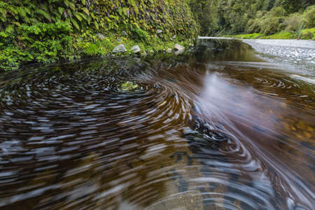 Blurred Motion View Of Remote River Currents Flowing