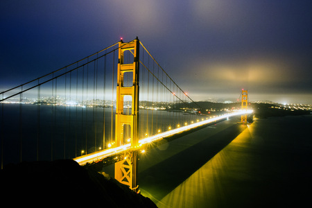 Golden Gate Bridge over San Francisco Bay, California, United States LANG_EVOIMAGES