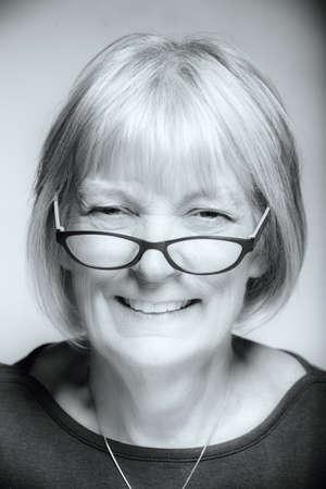 Close up of smiling senior Caucasian woman