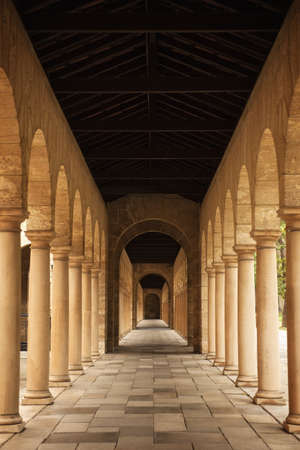 Arches in colonnade
