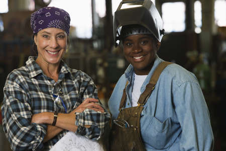Portrait of female warehouse workers