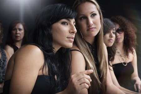 Women watching fashion show
