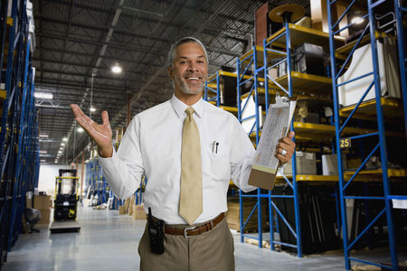 African man working in warehouse