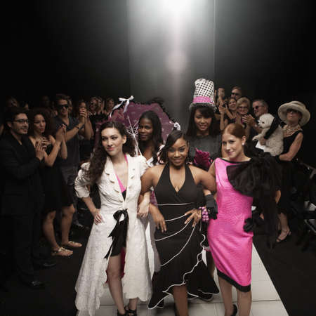 Models on runway in fashion show