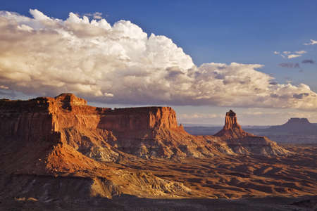 Candlestick Butte rock formations in Canyonlands National Park