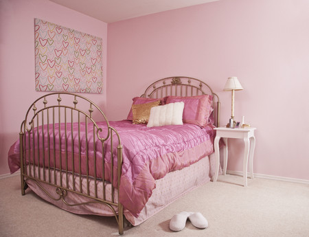 Pink Bedroom Interior