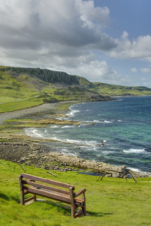 View over the coastline of the island of Skye