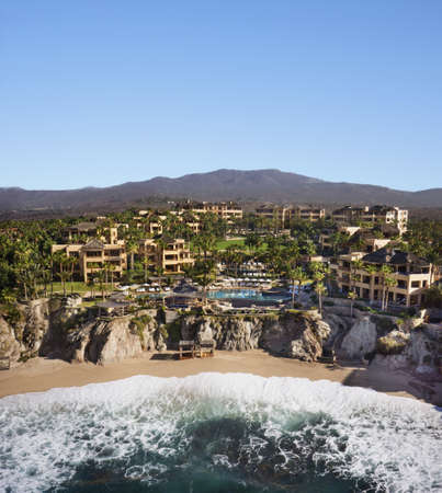 Aerial view of resort on ocean,Cabo San Lucas,BCS,Mexico