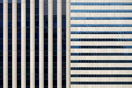 Windows on modern building