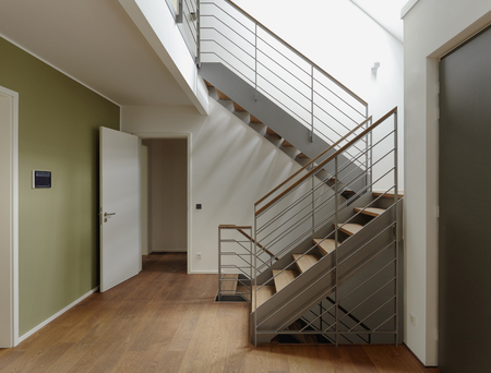 Plank floor and staircase in home Banco de Imagens - 102038030