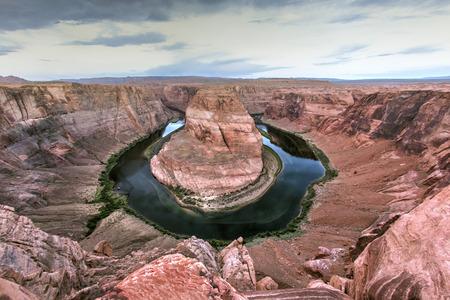Curving river in desert Banco de Imagens - 102038035