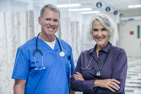 Portrait of smiling Caucasian doctors in hospital Banco de Imagens - 102038206