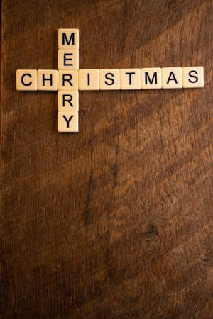 Merry Christmas  letters on wood