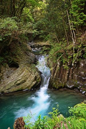 wildwood: Japanese waterfall Stock Photo