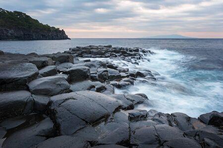undulation: Pacific Ocean.Japanese tourist spot. Stock Photo