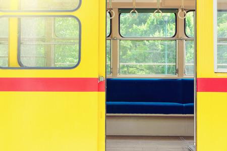 Tramway opened doors Standard-Bild