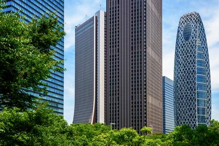Tokyo. Shinjuku. Skyscraper groups. Standard-Bild