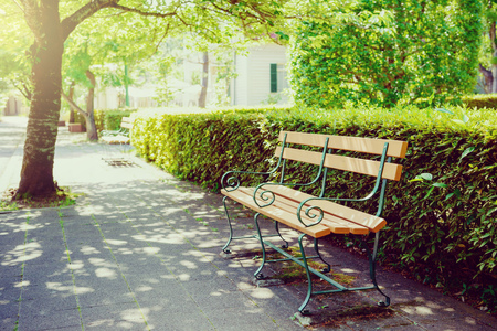 Residential area bench