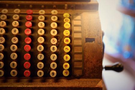 Retro registers Standard-Bild
