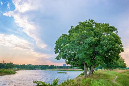 River bank before showering