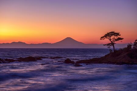 The Pacific Ocean and Mount Fuji