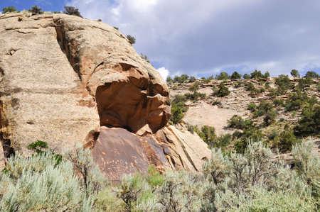 Newspaper rock at canyonlands national park, utah