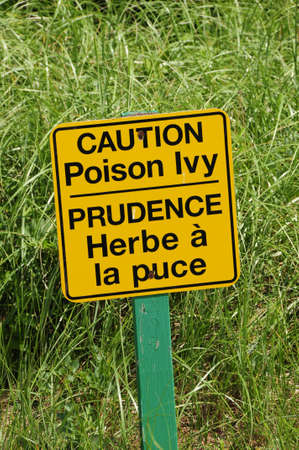 Poison Ivy sign in English and French