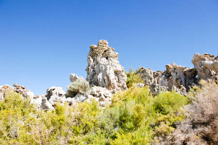 A ridge of tufas at mono lake Stock Photo
