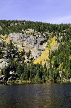 bear lake: Fall colors at Bear Lake Rocky mountain national park Stock Photo