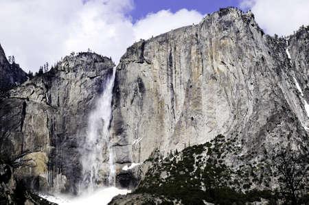 Waterfalls at Yosemite National Park in winter