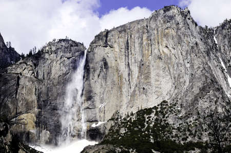 Waterfalls at Yosemite National Park in winter Stock Photo - 9566328