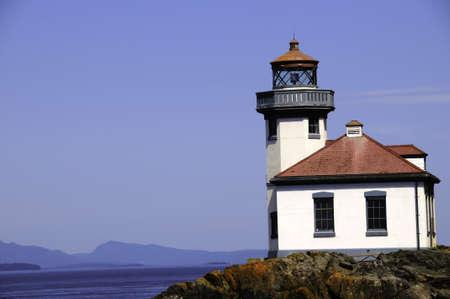 Lime Kiln lighthouse on San Juan Island, Washington Standard-Bild