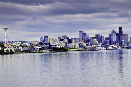 View of downtown Seattle with the Space Needle Stock Photo