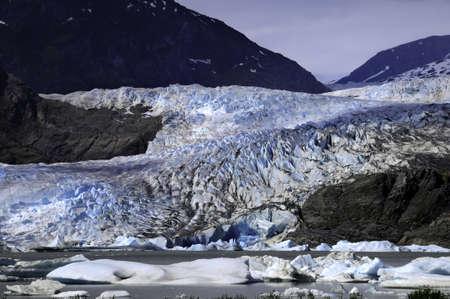 The Mendenhall Glacier in Juneau Alaska