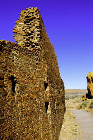 chaco: The ruins of Hungo Pavi at Chaco Canyon National Monument
