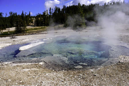 Crater Springs bubbling at Yellowstone National Park