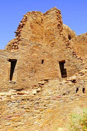 chaco: Pueblo Bonito at Chaco Canyon, New Mexico Stock Photo