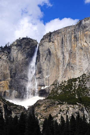 Waterfalls at Yosemite National Park in the winter Stock Photo