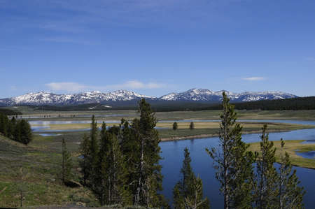 hayden: Hayden Valley with the Yellowstone river in Yellowstone National Park Stock Photo
