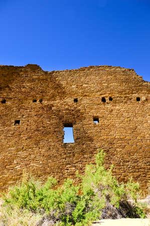 chaco: Pueblo Bonito at Chaco Culture National Historical Park, New Mexico