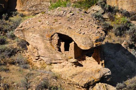 anasazi: Boulder house, an anasazi ruin at Hovenweep National Monument Stock Photo