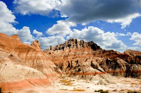 Colorful rocks at the Badlands National Park, South Dakota