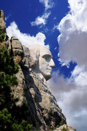 Profile of George Washington at Mount Rushmore Stock Photo - 17225460