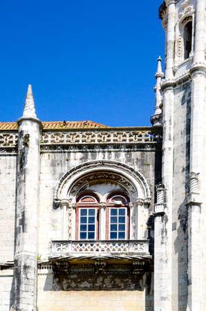 Balcony at Jeronimos Monastary Lisbon Portugal