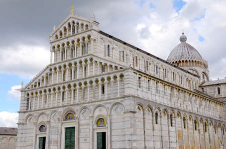 The Pisa Cathedral in the Square of Miracles or Cathedral Square in Pisa Italy photo